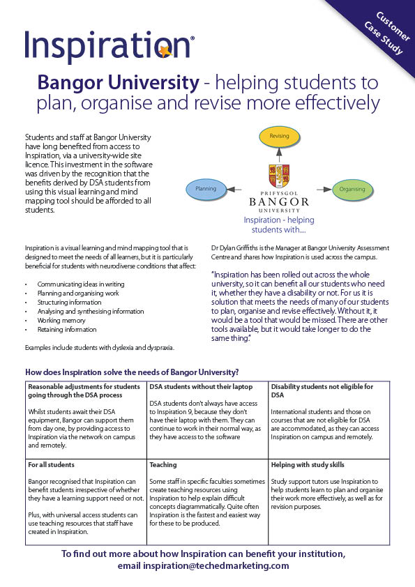 Helping students to plan, organise and revise more effectively.